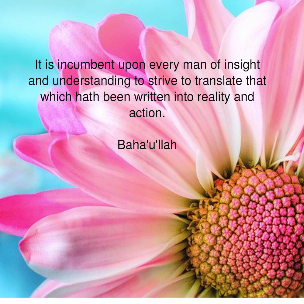 It Is Incumbent Upon Every Man Of Insight And Understanding | Bahá'í Journal