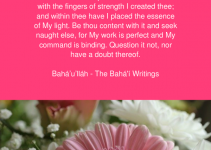 Bahai prayer O Son of Being! With The Hands Of Power I Made Thee